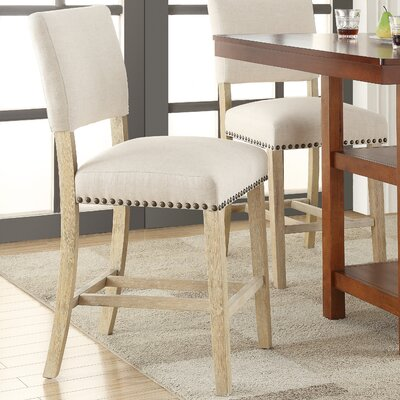 Prestwood 24 Bar Stool Upholstery: Fabric Linen