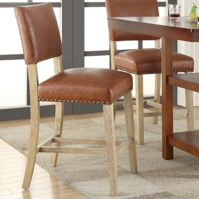 Prestwood 24 Bar Stool Upholstery: Bonded Leather Elite Saddle