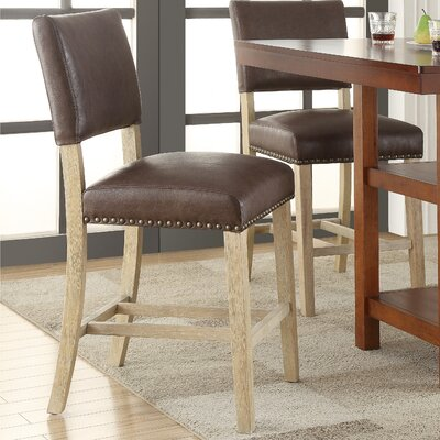 Carson 24 Bar Stool Upholstery: Bonded Leather - Elite Espresso