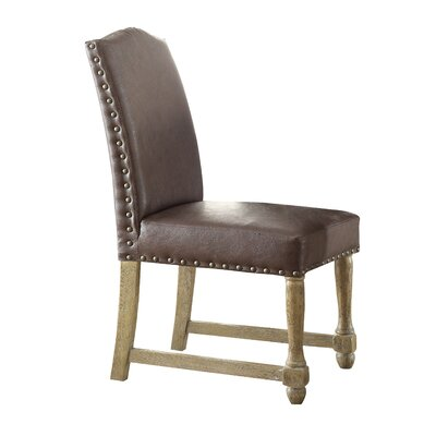 Kingman Genuine Leather Upholstered Dining Chair Upholstery: Elite Espresso