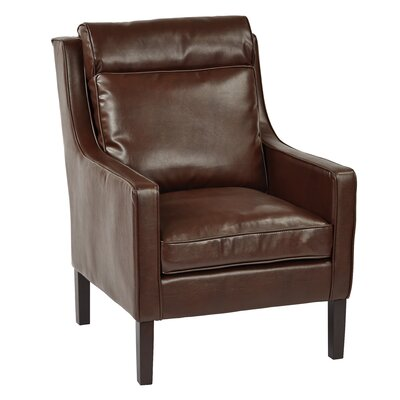 Colson Club Chair Upholstery: Brown