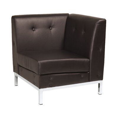 Wall Street Corner Chair Color: Espresso Product Picture 8287