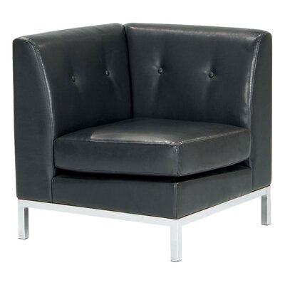 Wall Street Corner Chair Color: Black Product Picture 8287