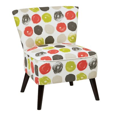 Apollo Slipper Chair Upholstery Color: Dot Poppy