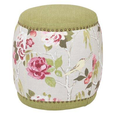 Briana Barrel Ottoman Upholstery: Basil