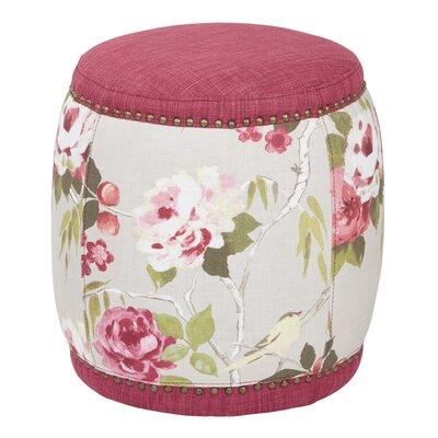 Briana Barrel Ottoman Upholstery: Berry
