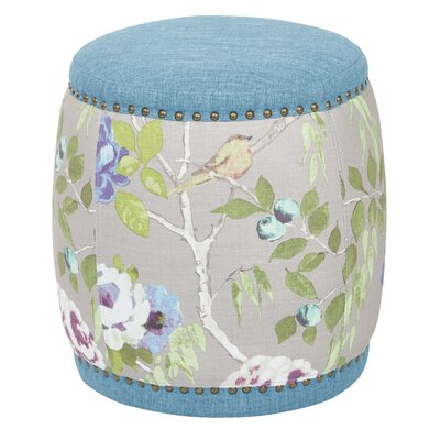 Briana Barrel Ottoman Upholstery: Sky Blue