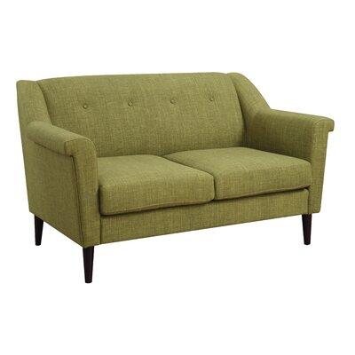 Bryant Loveseat Upholstery: Green