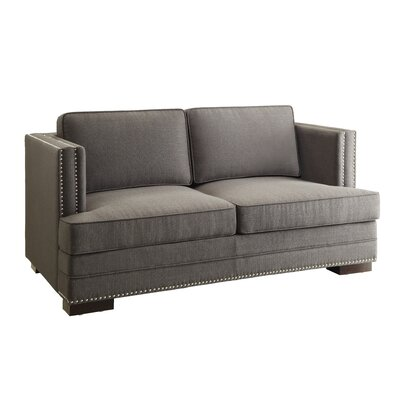 Seaview Loveseat Upholstery: Charcoal
