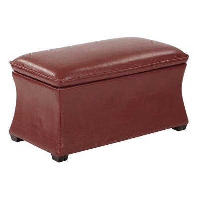 Hourglass Storage Ottoman Upholstery: Cranberry