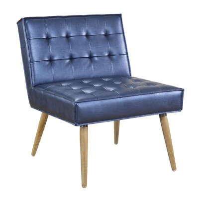 Nastya Side Chair Upholstery: Sizzle Azure