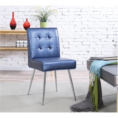 Amity Side Chair Upholstery: Sizzle Azure