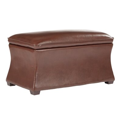 Hourglass Storage Ottoman Upholstery: Cocoa