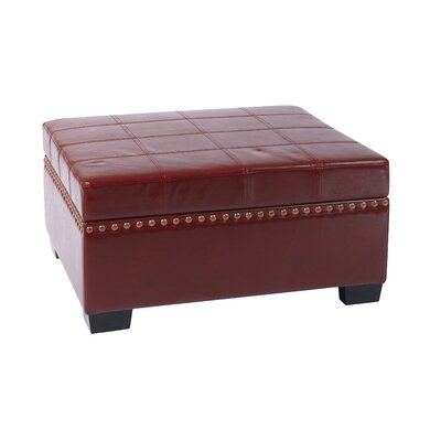 Matthew Storage Ottoman Upholstery: Crimson Red