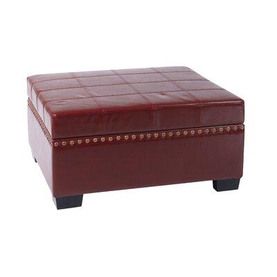 Detour Storage Ottoman Upholstery: Crimson Red