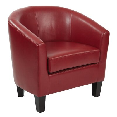 Ethan Barrel Chair Upholstery: Cranberry