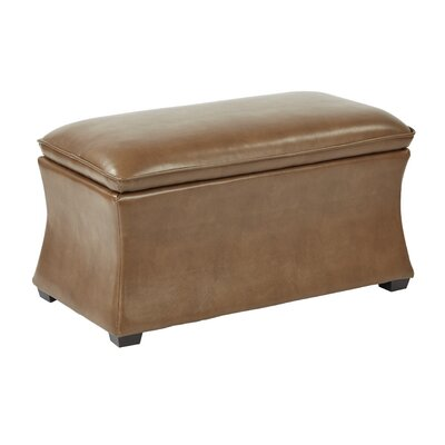 Hourglass Storage Ottoman Upholstery: Molasses