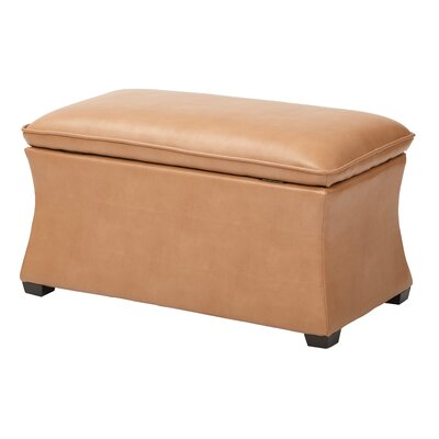 Hourglass Storage Ottoman Upholstery: Camel