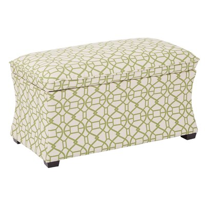 Morgan Noah Hourglass Storage Ottoman Color: Summertime