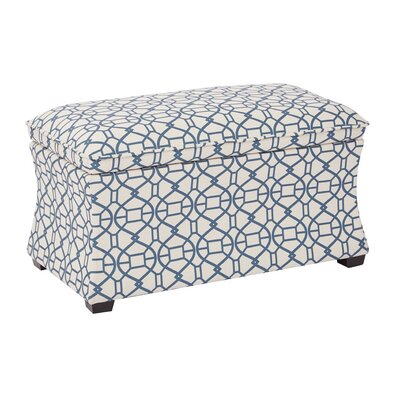 Morgan Noah Hourglass Storage Ottoman Color: Moonlight