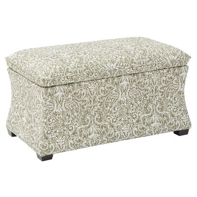Morgan Veranda Hourglass Storage Ottoman Color: Praline