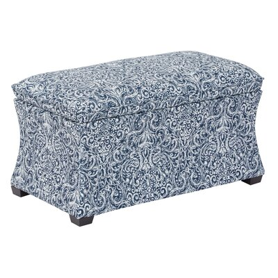 Morgan Veranda Hourglass Storage Ottoman Color: Indigo