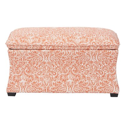 Morgan Veranda Hourglass Storage Ottoman Color: Capri