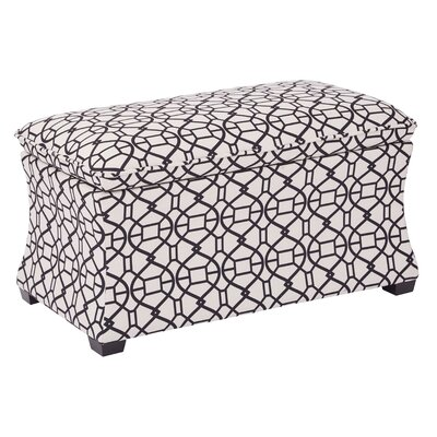 Morgan Noah Hourglass Storage Ottoman Color: Windsor