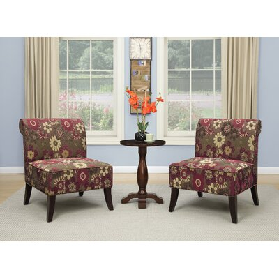 3 Piece Chair and Accent Table Set
