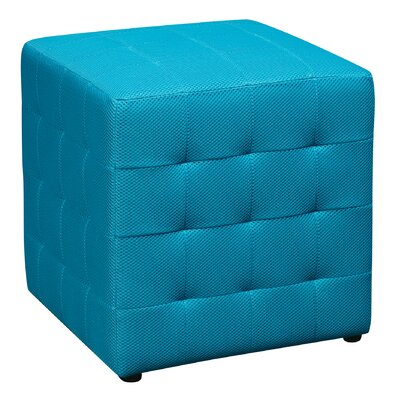 Gorby Cube Ottoman Upholstery: Blue