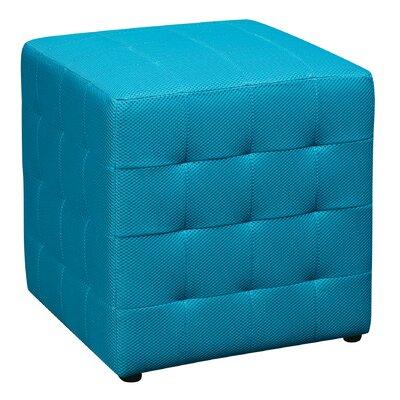 Detour Cube Ottoman Upholstery: Blue
