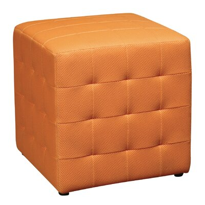 Gorby Cube Ottoman Upholstery: Orange