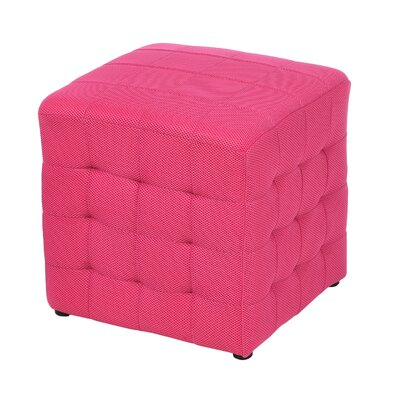 Gorby Cube Ottoman Upholstery: Pink