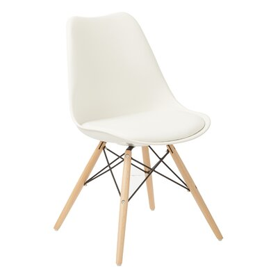 Wynell Side Chair Upholstery: White