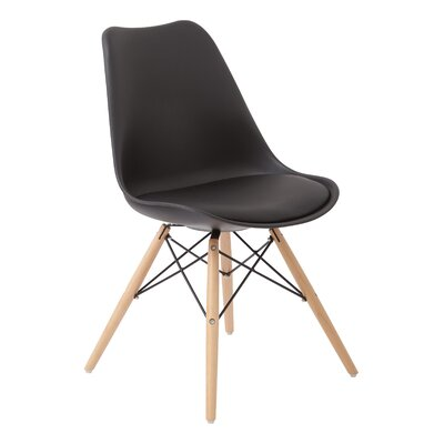 Wynell Side Chair Upholstery: Black