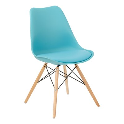 Allen Side Chair Upholstery: Teal