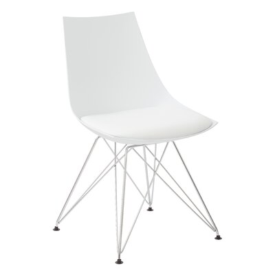 Eiffel Side Chair Upholstery: White