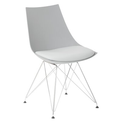 Eiffel Side Chair Upholstery: Gray