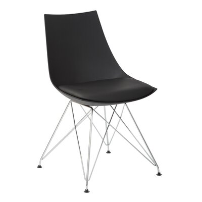 Eiffel Side Chair Upholstery: Black