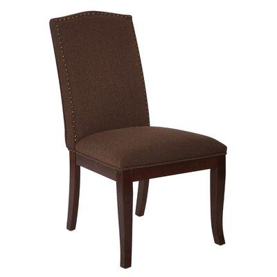 Hanson Side Chair Upholstery: Chocolate