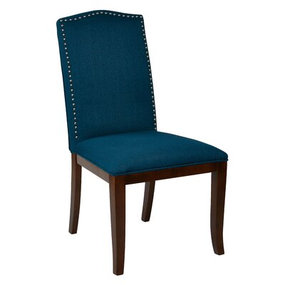 Hanson Side Chair Upholstery: Azure