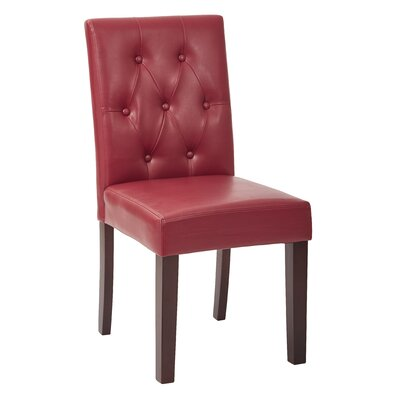 Side Chair Color: Cranberry