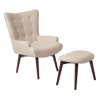 Dalton Lounge Chair and Ottoman Upholstery: Toast