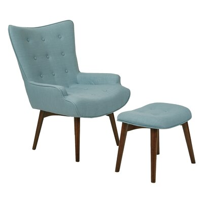 Dalton Lounge Chair and Ottoman Upholstery: Capri