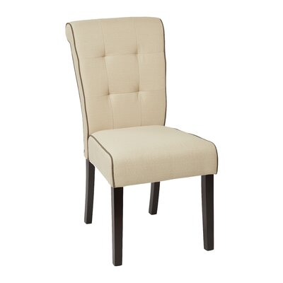 Savanna Tufted and Rolled Side Chair Upholstery: Klein Ricepaper