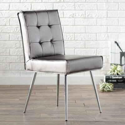 Amity Side Chair Upholstery: Sizzle Pewter