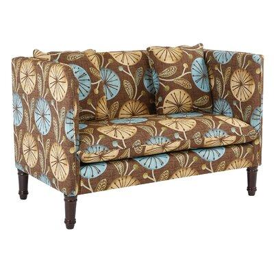Providence Dandelion Sette Loveseat Upholstery: Dandelion Aqua