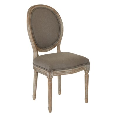 Lilian Oval Back Dining Side Chair Upholstery: Klein Otter