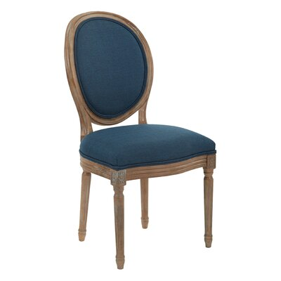 Lilian Oval Back Dining Side Chair Upholstery: Klein Azure