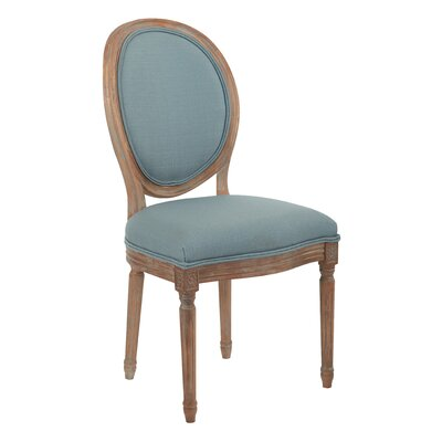Lilian Oval Back Dining Side Chair Upholstery: Klein Sea